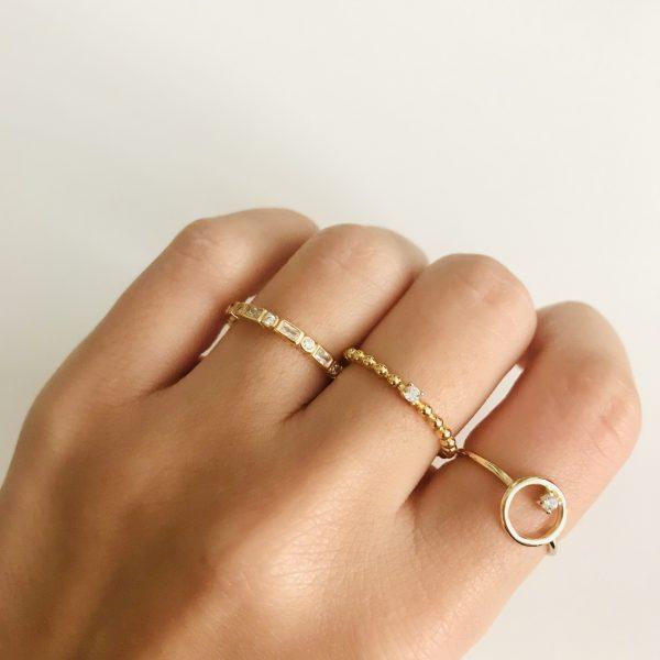 anillo bolitas circonita