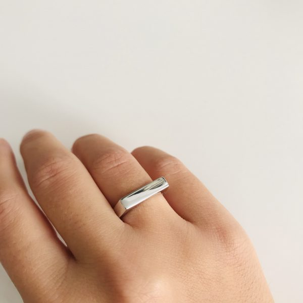 anillo donna plata crismonity