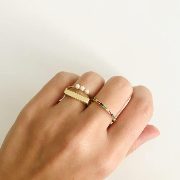 anillo circonitas colores