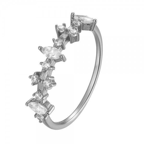 anillo circonitas plata