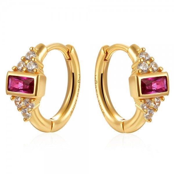 aros circonitas royal pink