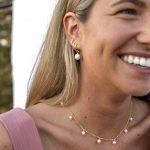 pendientes perlas triple